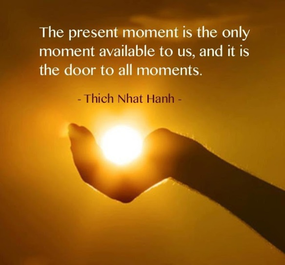The present moment is the only moment available to us and it is the door to all moments